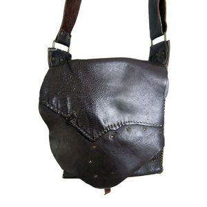 One of a Kind Reclaimed Leather Crossbody Purse